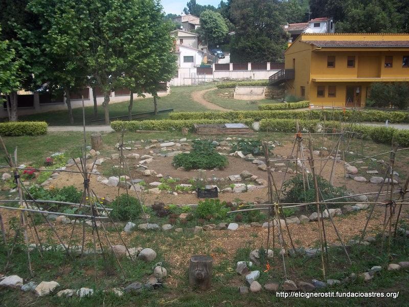 Vista general de l'hort, ecològic, de la residència Cant Font de la Fundació Astres! Foto. El Cigne Rostit