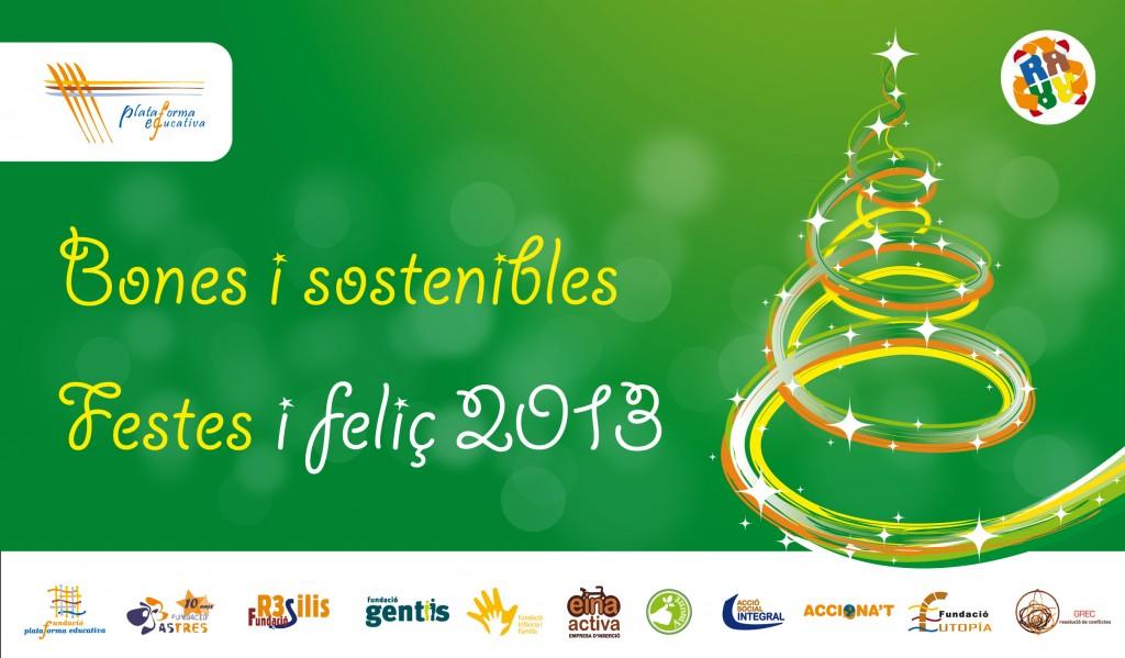 Des de l'àrea de RSC i Medi Ambient de Plataforma Educativa us desitgem unes bones i sostenibles Festes!