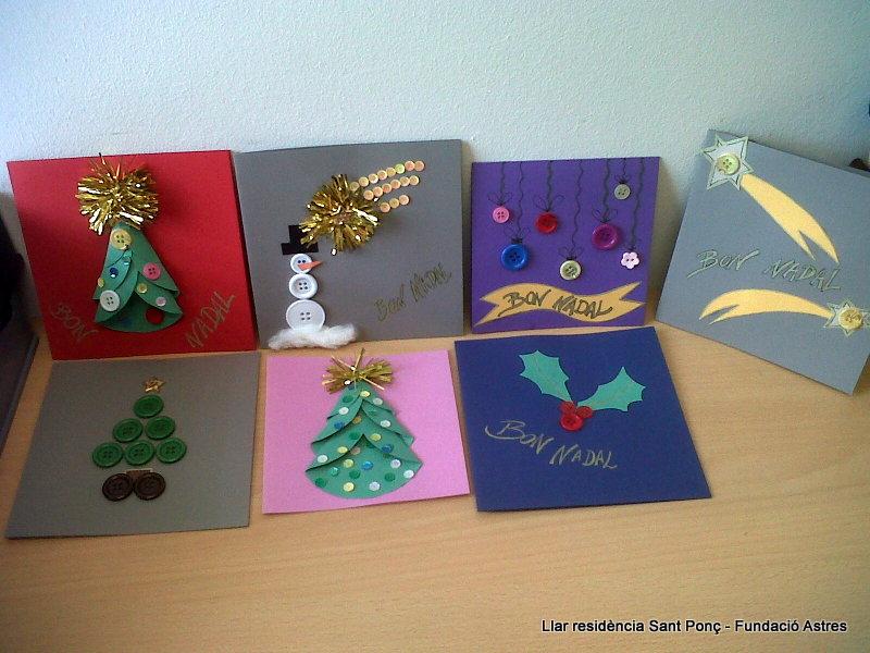 Mostra de les postals de Nadal que han fet la Llar residència St Ponç de la Fundació Astres.Mostra de les postals de Nadal que han fet la Llar residència St Ponç de la Fundació Astres.