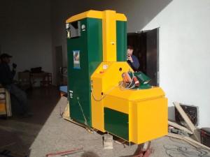 Caldera de biomassa de Som Energia al CREI Mas Ritort. Foto: Som Energia